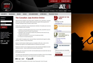 Canadian Jazz Archives